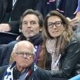Anne Claire Coudray et son compagnon Nicolas Vix - People au match de football France Bielorussie au Stade de France à Saint-Denis le 11 octobre 2017 © Cyril Moreau/Bestimage