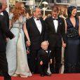 Verne Troyer, Lily Cole, Terry Gilliam, Andrew Garfield, Amy Gilliam lors du 62e Festival de Cannes