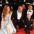 L'équipe du film L'Imaginarium du docteur Parnassus présenté hors-compétition au 62e Festival de Cannes le 22 mai 2009 : Lily Cole, Terry Gilliam, Andrew Garfield et Verne Troyer