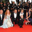 L'équipe du film L'Imaginarium du docteur Parnassus présenté hors-compétition au 62e Festival de Cannes le 22 mai 2009 : Lily Cole, Terry Gilliam, Andrew Garfield, Michael Dana et Verne Troyer