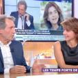 """Jean-Jacques Bourdin et Anne Nivat dans """"C à vous"""" sur France 5. Le 26 décembre 2018."""
