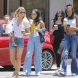 Exclusif - Paige Butcher, avec son bébé Izzy, fait du shopping avec les filles d'Eddie Murphy Zola et Bella à Bel Air le 15 juin 2017.