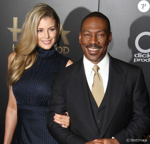 Eddie Murphy et sa compagne Paige Butcher à la 20ème soirée annuelle Hollywood Film Awards à l'hôtel Beverly Hilton à Beverly Hills, le 6 novembre 2016