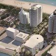 Images de la Faena House, complexe immobilier de quatorze étages situé à Miami.