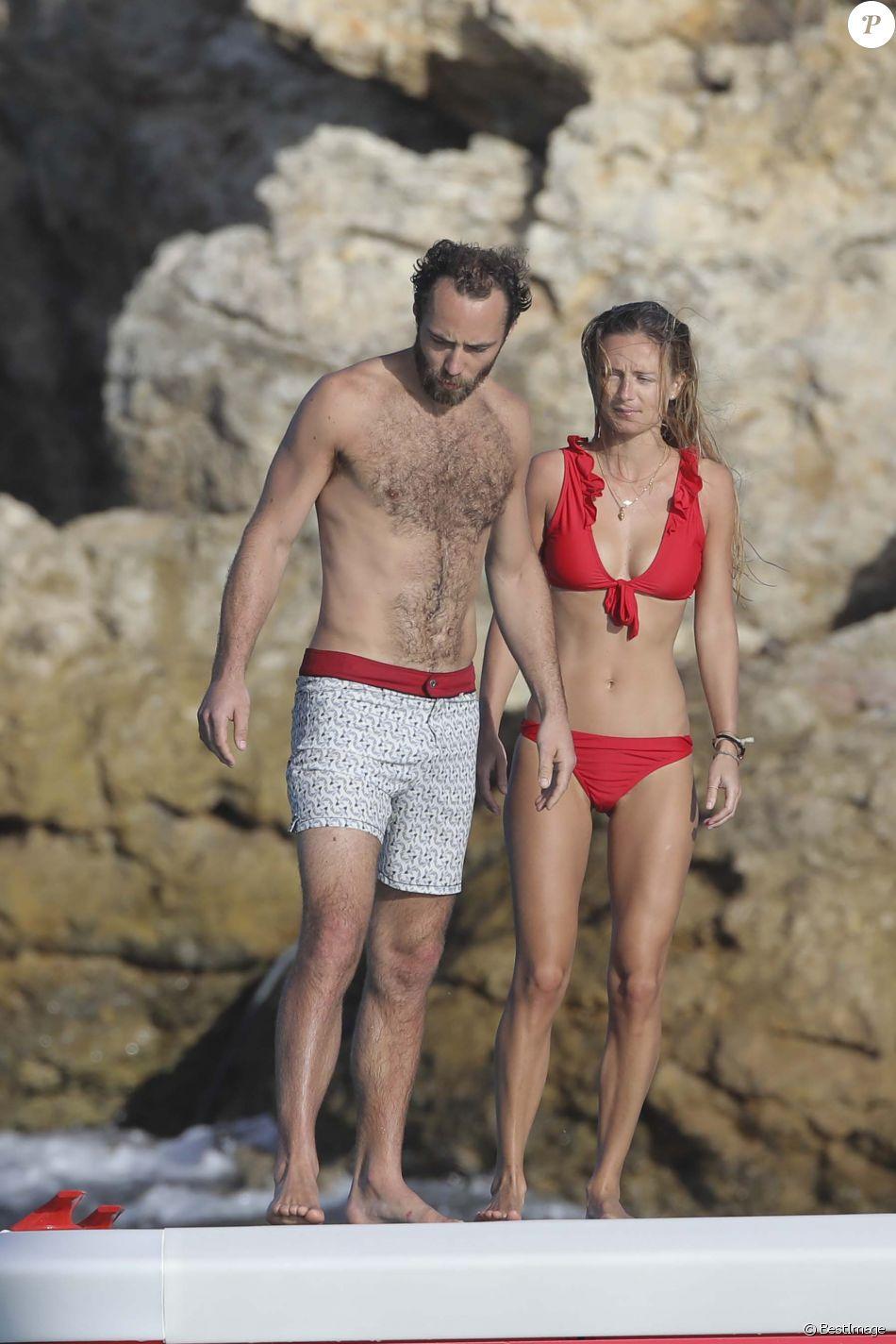Semi-exclusif - James Middleton et sa nouvelle compagne profitent de la plage de l'hôtel Eden Rock à Saint-Barthélemy, Antilles françaises, France, le 2 janvier 2019.