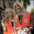 Adeline Blondieau et son compagnon jouent les blondes pour la bonne cause. Aujourd'hui une chose est sûre, c'est un couple bien assorti !
