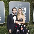 Heidi Klum et son fiancé Tom Kaulitz - 76e cérémonie annuelle des Golden Globe Awards au Beverly Hilton Hotel à Los Angeles, le 6 janvier 2019.