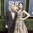 Sam Rockwell et sa compagne Leslie Bibb - 76e cérémonie annuelle des Golden Globe Awards au Beverly Hilton Hotel à Los Angeles, le 6 janvier 2019.