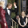 Keith Urban et Nicole Kidman, habillée d'une robe Michael Kors Collection - 76e cérémonie annuelle des Golden Globe Awards au Beverly Hilton Hotel à Los Angeles, le 6 janvier 2019.