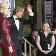 Keith Urban et Nicole Kidman, habillée d'une robe Michael Kors Collection - 76e cérémonie annuelle des Golden Globe Awards au Beverly Hilton Hotel à Los Angeles, le 6 janvier 2019.