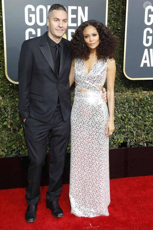 Thandie Newton et son mari Ol Parker - 76e cérémonie annuelle des Golden Globe Awards au Beverly Hilton Hotel à Los Angeles, le 6 janvier 2019.