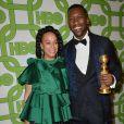 Mahershala Ali et sa femme Amatus Sami-Karim à la soirée HBO au Circa 55 à Beverly Hills pour la 76e cérémonie annuelle des Golden Globe Awards à Los Angeles, le 6 janvier 2019.