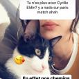 Sandrine Clavayrac annonce sa rupture avec Cyrille Eldin en story sur Instagram lundi 7 janvier 2019.