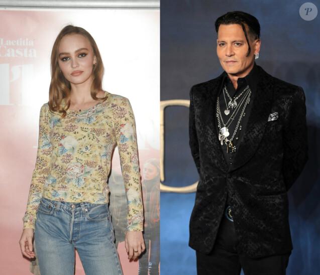 Lily-Rose et Johnny Depp.