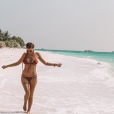 Jessica Thivenin aux Maldives le 6 janvier 2019.