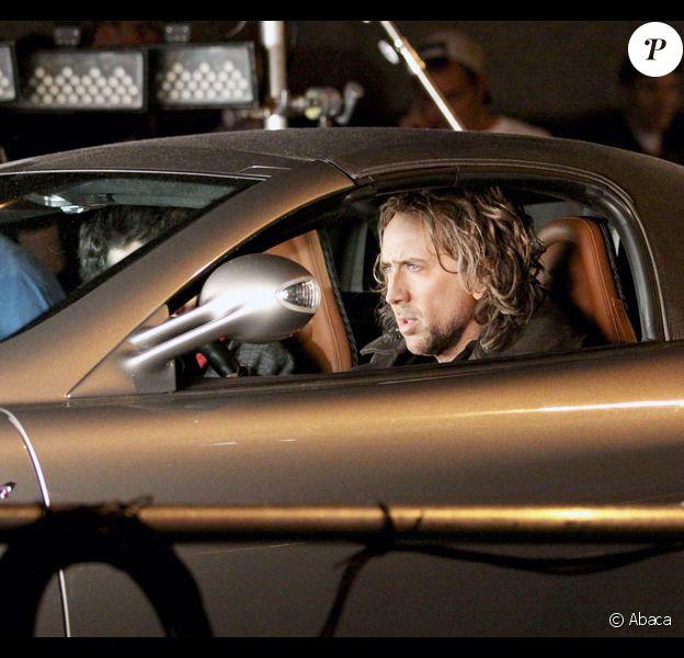 Nicolas Cage sur le tournage de L'Apprenti Sorcier à New York le 22 mai 2009