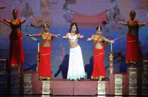 Première de la Comédie musicale Bharati au Palais des Congrès