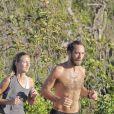 Exclusif - James Middleton et sa nouvelle compagne Alizée Thevenet font leur jogging matinal à Saint-Barthélemy, le 5 janvier 2019.