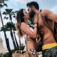 Julia Flabat et son chéri Eddy en vacances à Ibiza sur Instagram. Juin 2018.