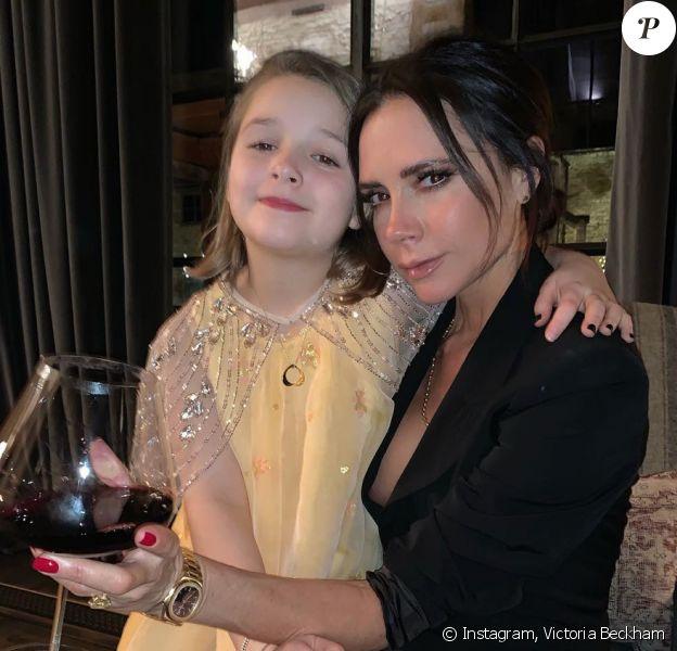 Victoria et Harper Beckham. Janvier 2019.