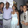 Mike Tyson et ses trois grands enfants, Rayna, Gina et Amir