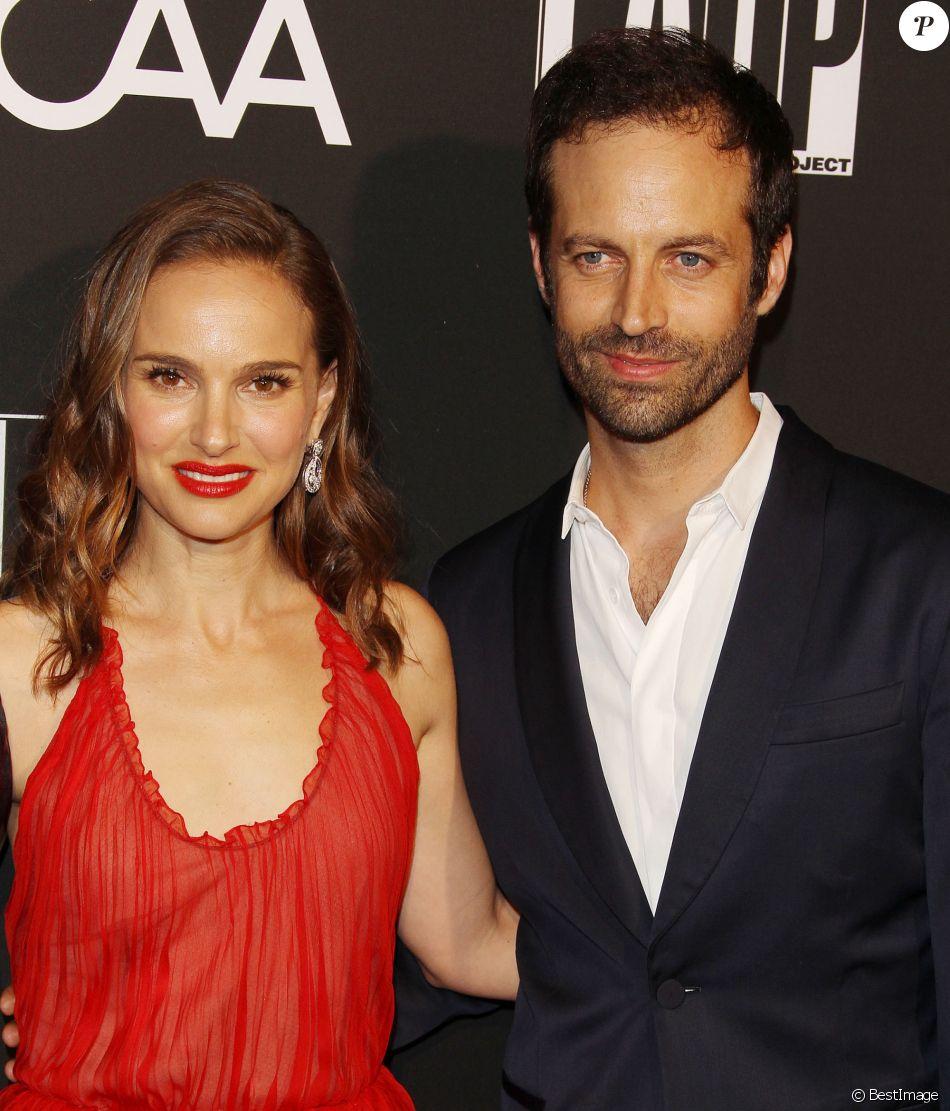 """Natalie Portman et son mari Benjamin Millepied - Les célébrités posent lors du photocall de la soirée """"L.A. Dance Project"""" à Los Angeles le 20 octobre 2018."""