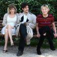 "Valeria Bruni Tedeschi, son ex-compagnon Louis Garrel et Marisa Borini - L'equipe du film ""Un Chateau en Italie"" de Valeria Bruni Tedeschi à Rome, le 22 Octobre 2013."
