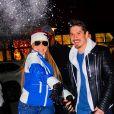 Mariah Carey jette des boules de neige avec son petit ami Bryan Tanaka sur les photographes à Aspen Le 22 décembre 2018