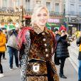 Chiara Ferragni arrive au défilé Schiaparelli lors de la Fashion Week Haute Couture collection printemps/été 2019 de Paris, France, le 21 janvier 2019. © CVS/Bestimage
