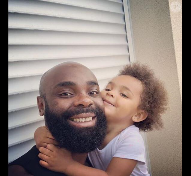 Kaaris avec sa fille  Okou Brooklyn Amra sur Instagram le 3 juin 2018.