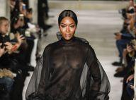 Fashion Week : Naomi Campbell, canon en transparence devant Courtney Love