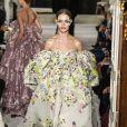 Défilé Valentino, collection Haute Couture printemps-été 2019 lors de la Fashion Week de Paris, le 23 janvier 2019.
