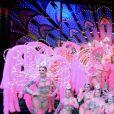 Exclusif - Céline Dion et Pepe Munoz se sont rendus au Moulin Rouge pour applaudir Nora une de leurs amies qui dansait pour la dernière fois sur la scène du célèbre cabaret à Paris le 24 janvier 2019.