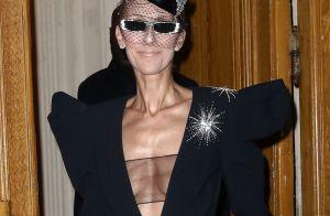 Céline Dion à Paris : Look audacieux et décolleté transparent aux Folies Bergère