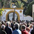 Image des obsèques du petit Julen Rosello, 2 ans, le 27 janvier 2019 à Malaga, en présence de centaines de personnes. Tombé dans un puits le 13 janvier 2019 à Totalan dans le sud de l'Espagne, l'enfant avait été retrouvé mort après 13 jours de recherches acharnées.
