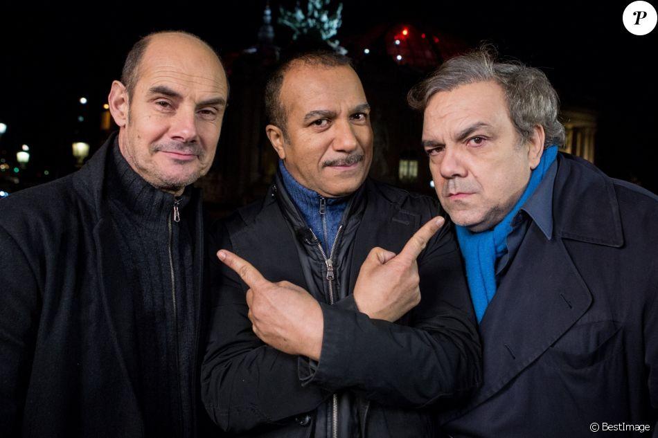 """Exclusif - Bernard Campan, Pascal Legitimus et Didier Bourdon (Les Inconnus) - Enregistrement de l'emission """"Toute la musique qu'on aime"""", qui a été diffusée le 31 decembre 2013."""