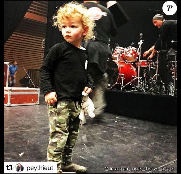 Tom, le fils d'Ingrid Chauvin, sur Instagram, le 29 janvier 2019