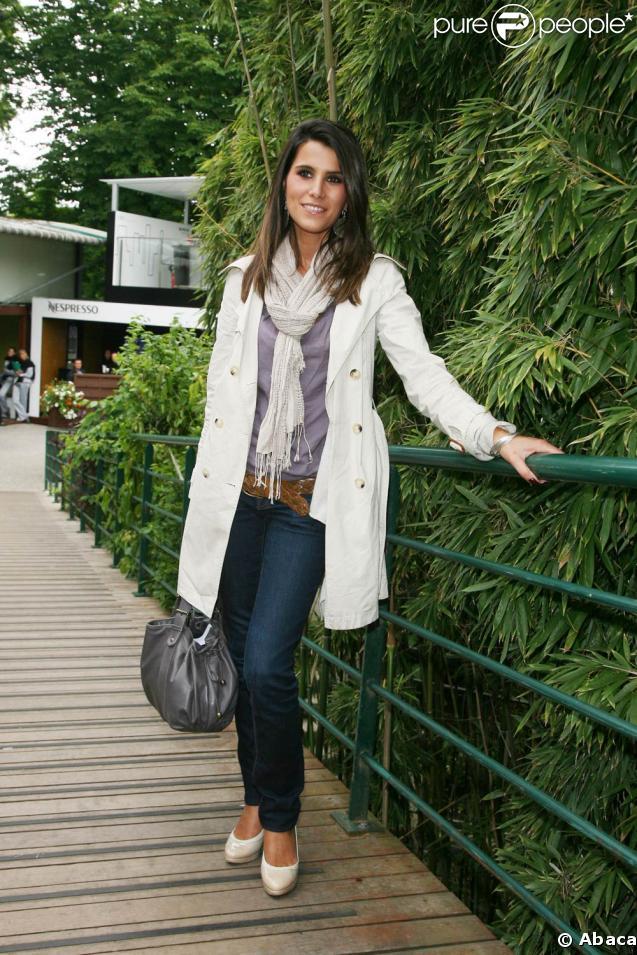Karine Ferri à Roland Garros hier