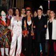 La princesse Stéphanie de Monaco, Pauline Ducruet, Louis Ducruet, Camille Gottlieb lors de la 43ème édition du festival international du cirque de Monte-Carlo le 18 janvier 2019. © Claudia Albuquerque / Bestimage