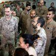 Le roi Felipe VI d'Espagne en visite de soutien aux troupes espagnoles en Irak à Bagdad le 30 janvier 2019, jour de son 51e anniversaire.