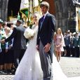Mariage religieux du Prince Ernst August junior de Hanovre et d'Ekaterina Malysheva à l'église Markkirche à Hanovre, Allemagne, le 8 juillet 2017.