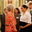 Le prince Harry, duc de Sussex, et Meghan Markle, enceinte, duchesse de Sussex, lors du cocktail d'accueil aux Endeavour fund Awards au Drapers' Hall à Londres le 7 février 2019.