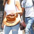 Jennifer Aniston et son mari Justin Theroux sortent d' un immeuble à New York Le 19 Juillet 2017.