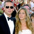 Brad Pitt et Jennifer Aniston - 56e cérémonie des Emmy Awards, à Los Angeles, le 19 septembre 2004.