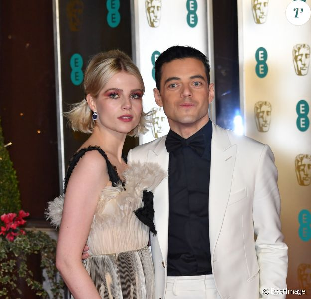 Rami Malek et sa compagne Lucy Boynton - After party de la 72ème cérémonie annuelle des BAFTA Awards à la Grosvernor House à Londres, le 10 février 2019. London, UNITED KINGDOM - Celebrities at the 72th EE British Academy Film Awards 2019 after party at the Grosvernor House, on February 10th 2019.10/02/2019 - Londres
