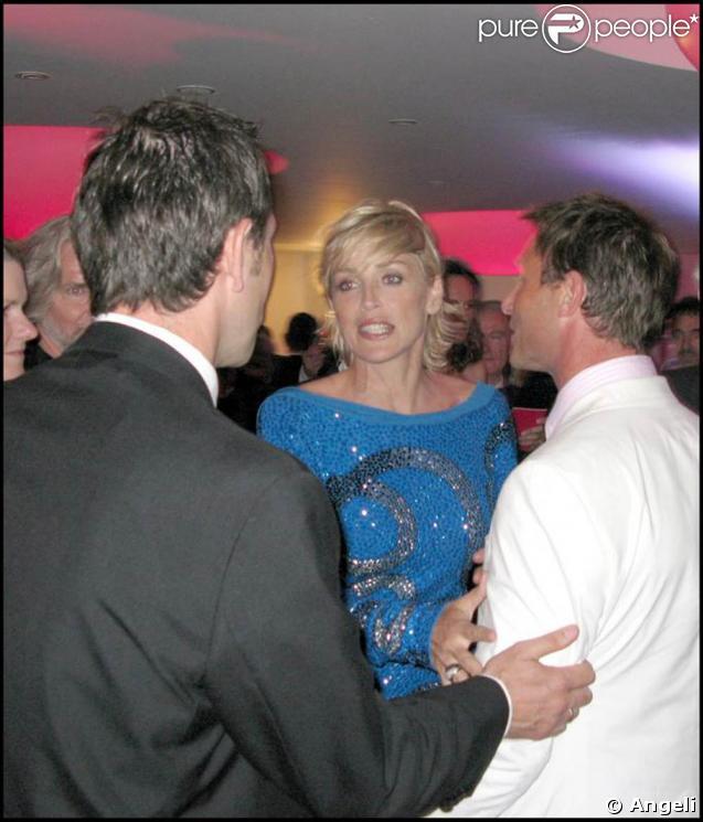 Sharon Stone, lors de la grande soirée de l'amfAR, le 21 mai 2009, lors du 62e Festival de Cannes !