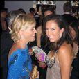Sharon Stone et la tenniswoman Jelena Jankovic, lors de la grande soirée de l'amfAR, le 21 mai 2009, lors du 62e Festival de Cannes !