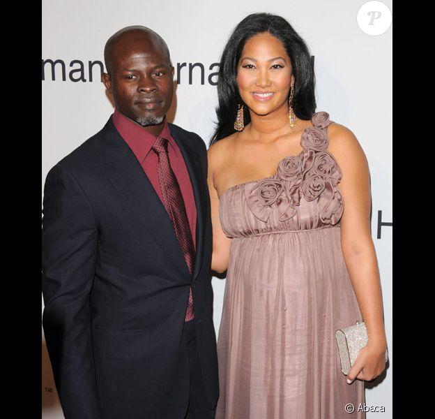 Kimora Lee Simmons et son compagnon Djimon Hounsou en février 2009