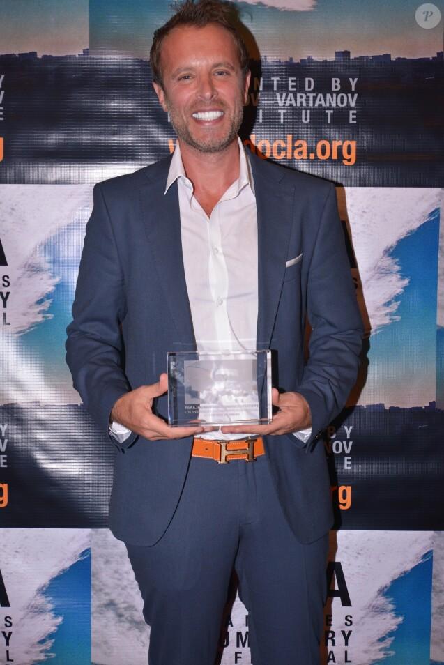 """Le producteur Fabrice Sopoglian - Fabrice Sopoglian reçoit deux Awards pour le documentaire """"VIF"""" sur la vie de Christian Audigier lors du festival DOC LA à Los Angeles le 20 octobre 2017."""
