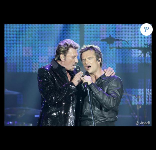 Johnny Hallyday et David Hallyday, le 30 mai 2009, au Stade de France !